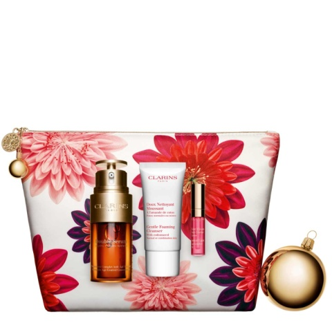 Free Clarins Double Serum Beauty Box when you spend £75 on selected Clarins products!