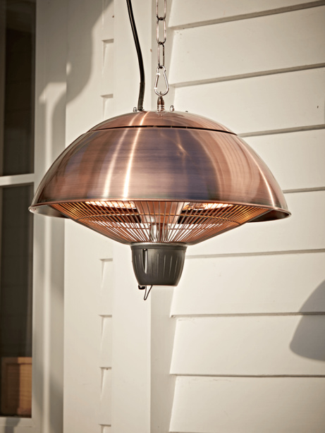 SAVE 35% on this Hanging Copper Outdoor Heater!