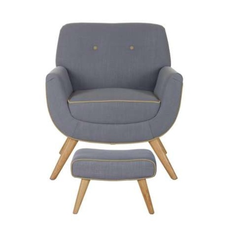 30% OFF this EXCLUSIVE Skandi Charcoal Armchair and Footstool!