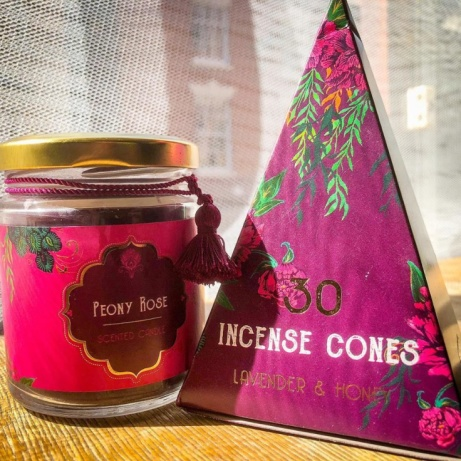 Lots of beautifully packaged amazing smelling incense and scented candles now in stock