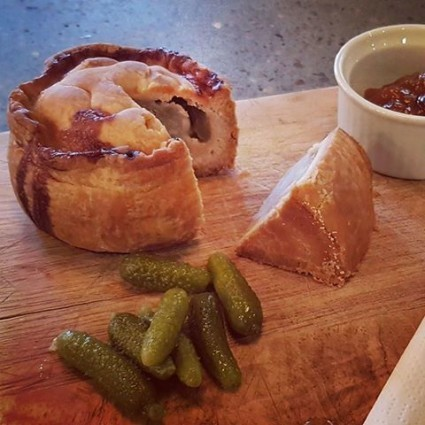 It's not ALL about toasties in our kitchen, we serve delicious Hartland pork pies too.