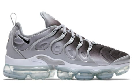 Spring Summer 2018 - Nike Air Vapormax Plus in Wolf Grey/Black-White JUST £174.00!