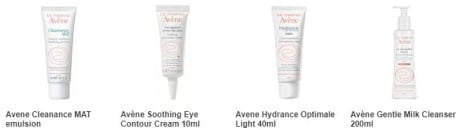 Save 25% on selected Avene, Online Only!