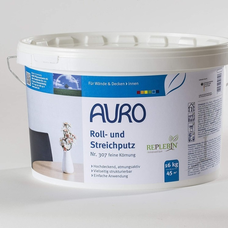 SALE ON ECO PRODUCTS - AURO 309 Roll And Brush Rendering (Coarse) 16kg: £45.00!