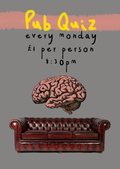 PUB QUIZ - Every Monday £1.00 per person 8:30 pm!