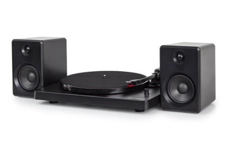 Victrola Modern Matte Black Turntable with Bluetooth Speakers (HMV Exclusive): Save £100.00!
