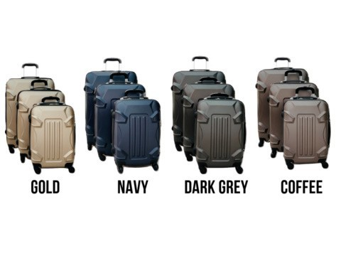 3pc ABS Hard Shell 3pc Luggage Travel Case Suitcase £69.99 (RRP £279.99)