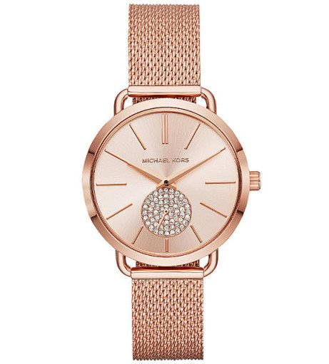 PORTIA MESH ROSE TONE BRACELET WATCH MK - £229.00!