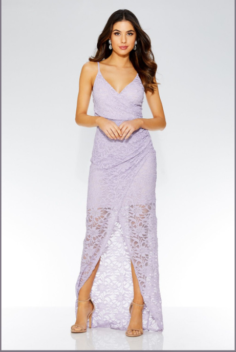 Save £20 on this Beautiful Lilac Glitter Wrap Front Maxi Dress