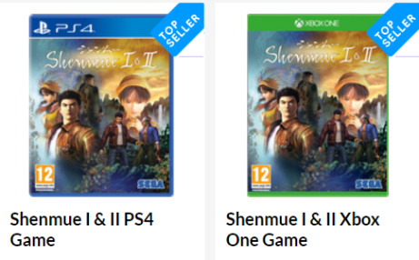 PRE-ORDER - Shenmue I & II ONLY £23.99 - PS4 + Xbox One