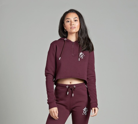 SAVE 25% OFF Gym King Womens Kady Cropped Hooded Top | Port Royale!
