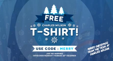 FREE Charles Wilson T-Shirt