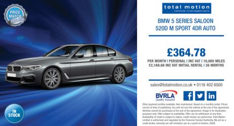 BMW 5 Series 520d M Sport 4dr Auto | £364.78 (incl. VAT) p/m!