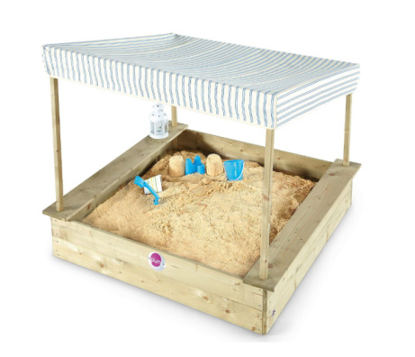 25% OFF - Plum Palm Beach Wooden Sandpit with Canopy!