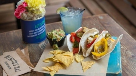 We serve delcicious Tacos for just £5.20, there's also veggie and gluten free dishes available!