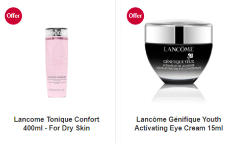 SAVE 20% when you buy selected Lancôme Cleanser, Toners and Moisturisers!
