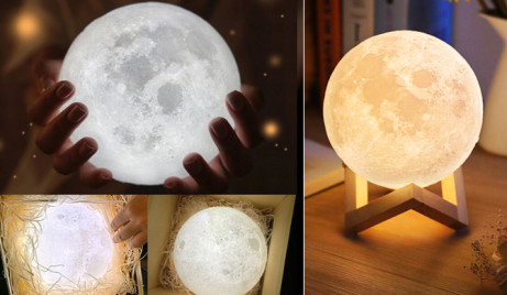 Save 78% on this Touch Control LED 3D Moon Lamp