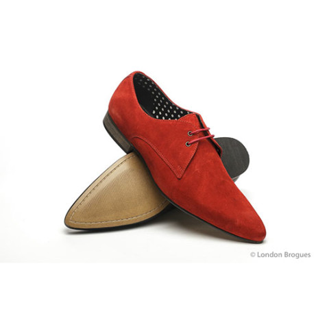 Save over £30 on these Red Suede Winkle Picker Shoes