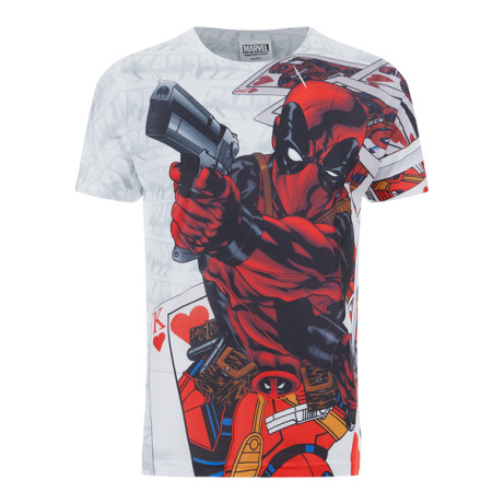 Marvel Deadpool Cards T-Shirt - Save £3