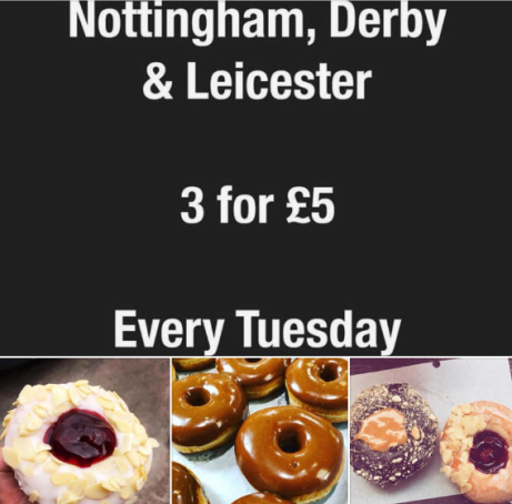 EVERY TUESDAY IN DERBY, NOTTINGHAM AND LEICESTER - 3 for £5.00!