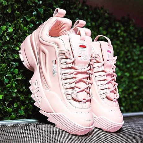 Fila pale pink disruptor ii trainers - £80.00 with free delivery!