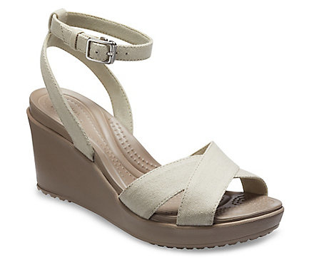 GET 50% OFF - Women's Leigh II Cross-Strap Ankle Wedge!