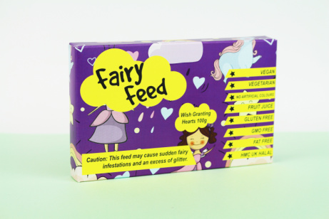 A quirky little box packed with lots of tasty treats: Fairy Feed £2.50!