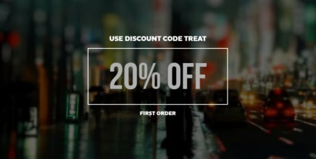 DISCOUNT TREAT - 20% OFF FIRST ORDER!