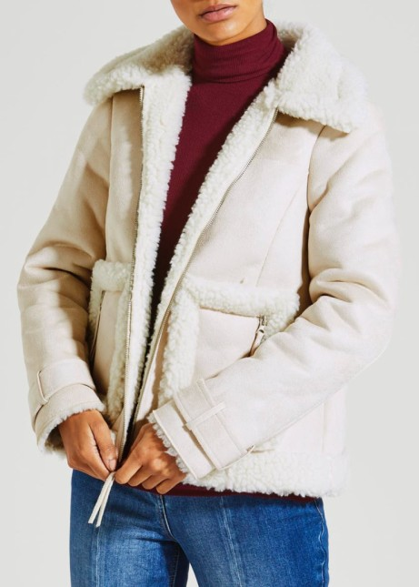 50% off this Cropped Faux Shearling Jacket