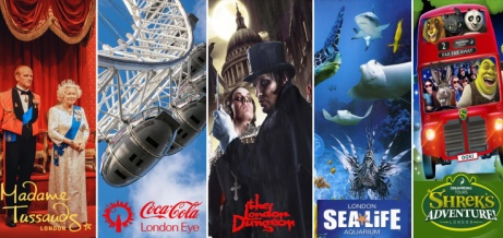 Merlin's Magical London Pass - Visit 5 Top London Attractions for ONLY £55 - SAVE £90!
