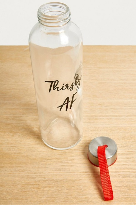 Thirsty AF Glass Water Bottle - NOW HALF PRICE!
