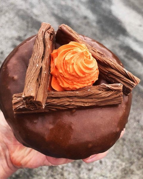 Time to snuggle up with our bonfire inspired doughnut