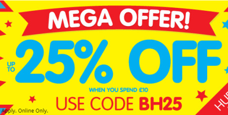 Bank Holiday Sale - 25% OFF EVERYTHING!