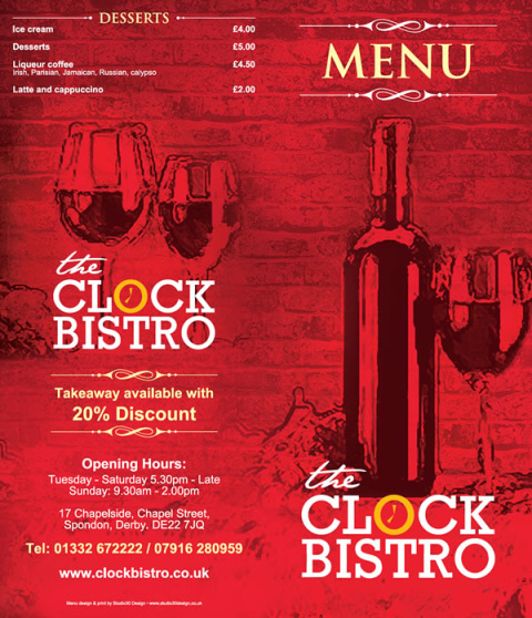 Check out our menu and book TODAY for Valentines Day!