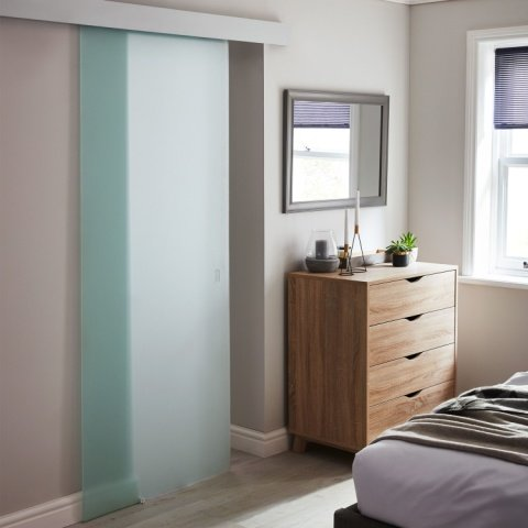 NEW PRODUCTS - FROSTED GLASS INTERNAL SLIDING DOOR: £80.00!