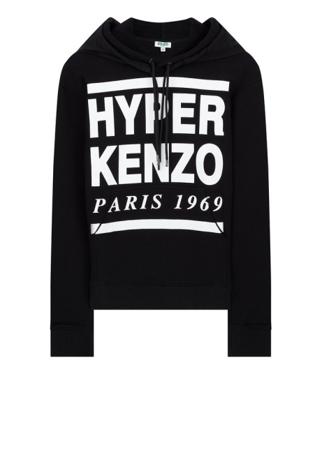 SS18 'Hyper KENZO' Hooded Sweatshirt in Black - SAVE £116.00!