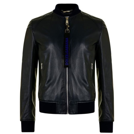 30% OFF this DOLCE AND GABBANA Leather Bomber Jacket - SAVE £600!