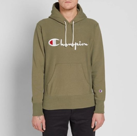 SAVE £30 OFF This Champion Reverse Weave Script Logo Pullover Hoody!