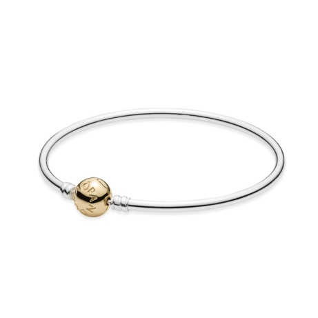 SAVE £100 OFF PANDORA Two Tone Moments Bangle + FREE Express Delivery!