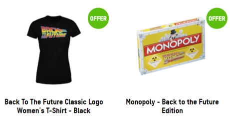 1/3 OFF - Back to the Future T-Shirt & Monopoly - ONLY £29.99!