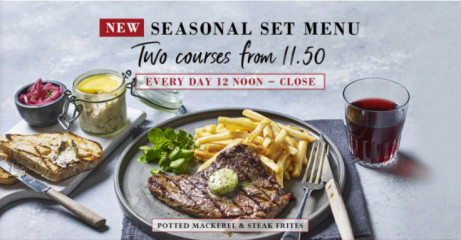 Discover our new seasonal menu with complimentary Prosecco!