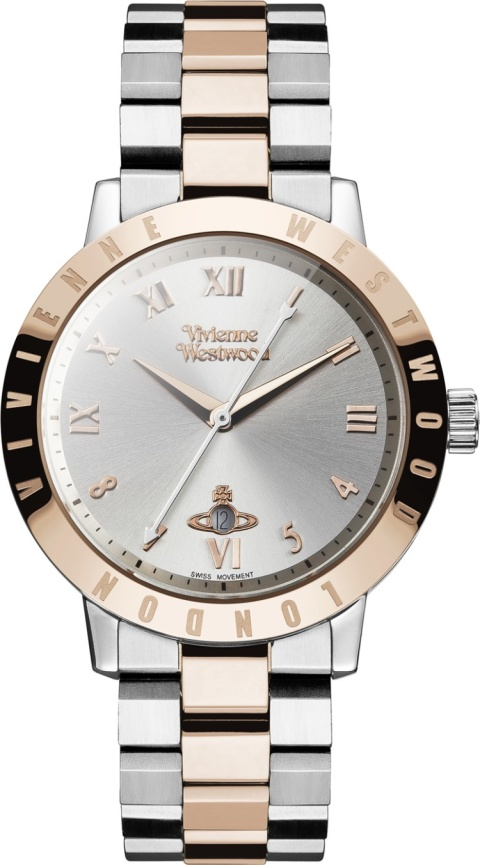 CHRISTMAS GIFTS - VIVIENNE WESTWOOD ROSE GOLD & SILVER BLOOMSBURY WATCH £285.00!