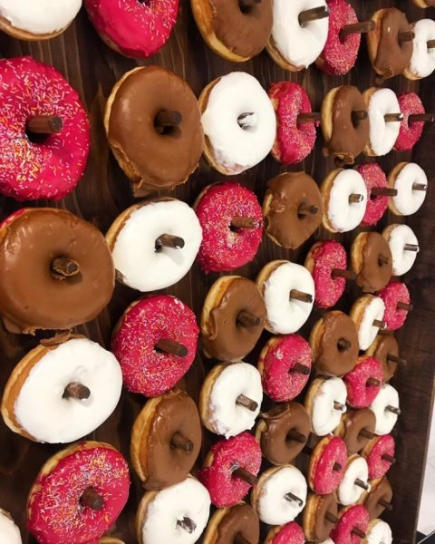 Our doughnut wall is all set up and ready to go