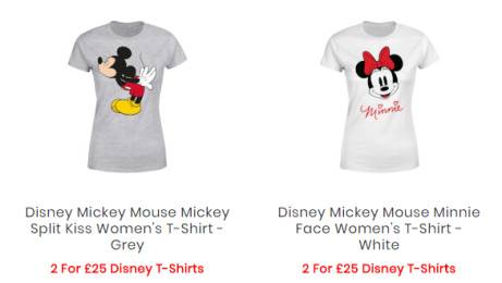 2 for £25 Disney T-Shirts!