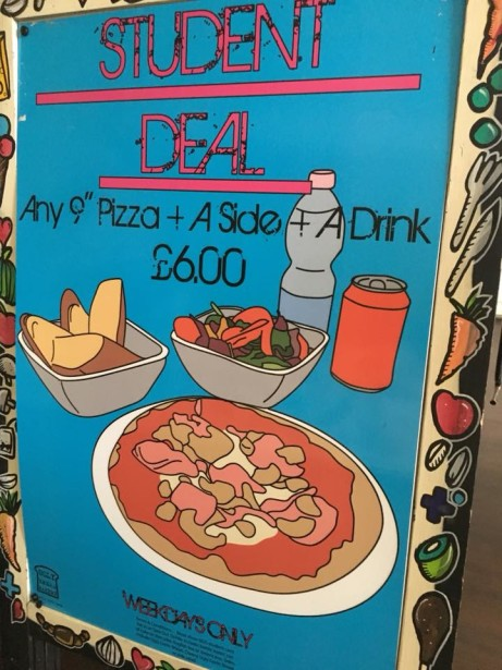 "Student Offer  - Any 9"" Pizza + Side + Drink ONLY £6.00!"