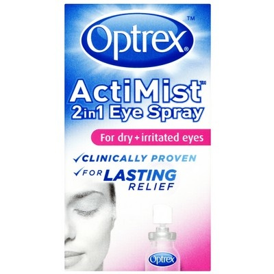 OVER 40% OFF - Optrex ActiMist 2 in 1 Eye Spray Dry + Irritated Eyes 10ml - As seen on TV!