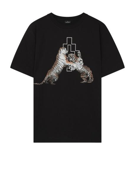 SAVE £53.00 - Marcelo Burlon SS18 Double Tiger T-Shirt in Black!