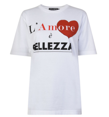 SAVE £75 on this DOLCE AND GABBANA Amore T Shirt!