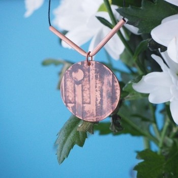 This Sophie Clark Oxidised Copper Pendant is £28