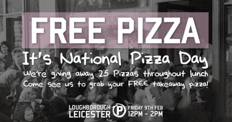FREE PIZZA - It's National Pizza Day!